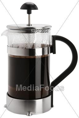 Kaffeezubereiter, Glaskanne mit Sieb