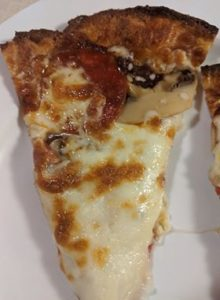pizza slices on a plate