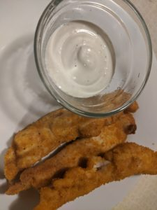 keto chicken tenders on a plate